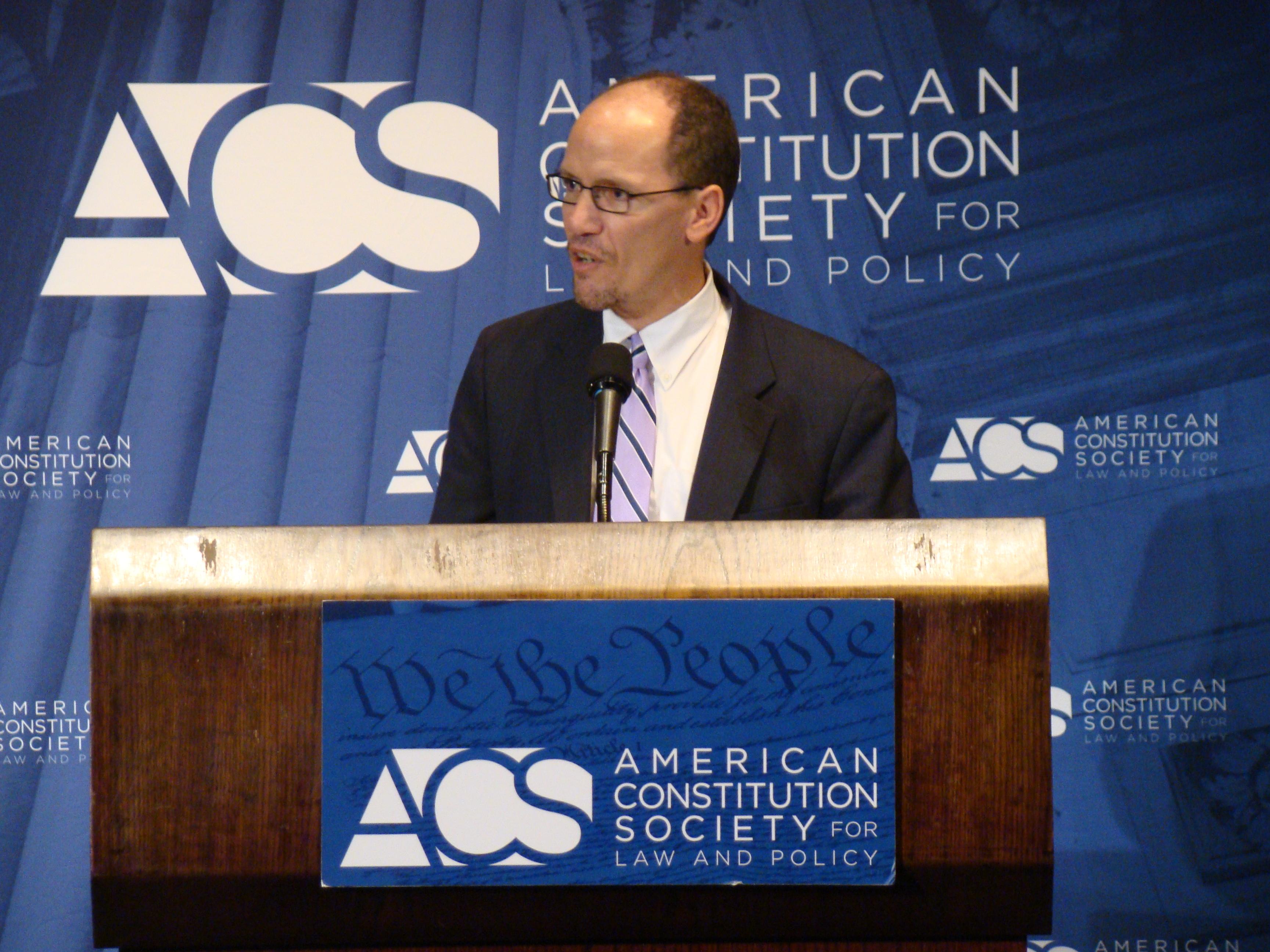 Assistant Attorney General Thomas E. Perez
