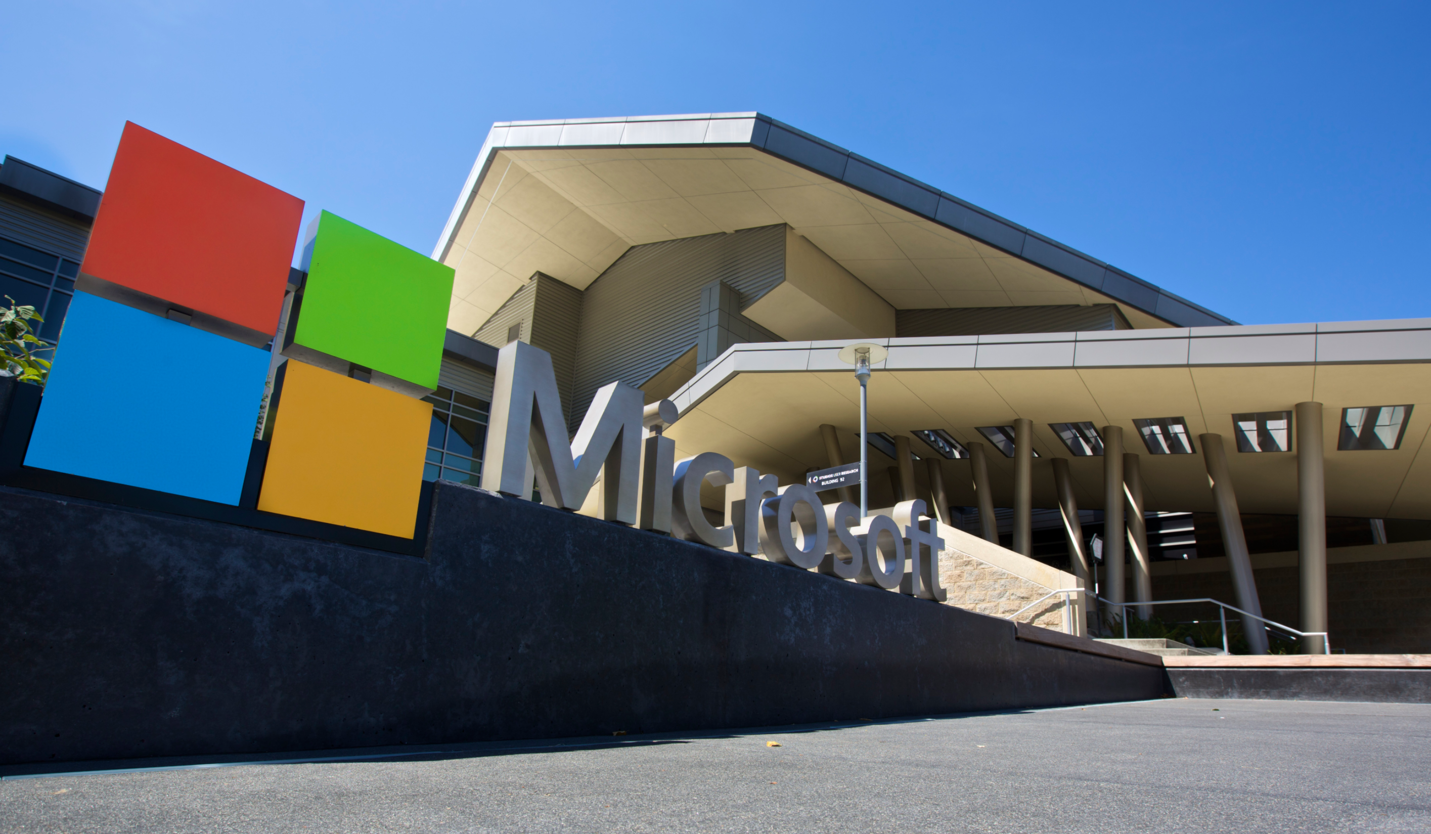 Microsoft Headquarters with logo