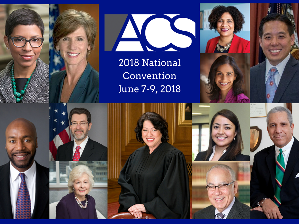ACS 2018 National Convention featured speakers, including Supreme Court Justice Sonia Sotomayor