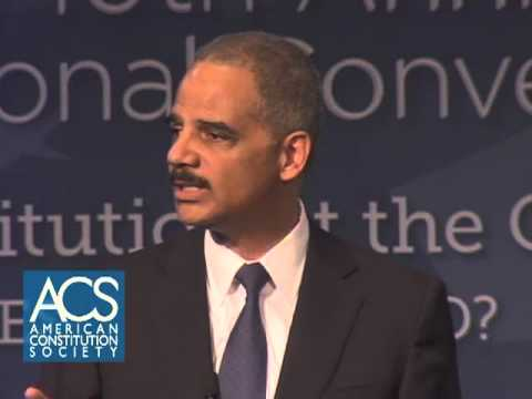 Attorney General Eric Holder Addresses the ACS 10th Anniversary National Convention