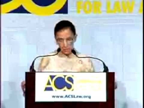 Justice Ruth Bader Ginsburg at the 2003 Annual Convention