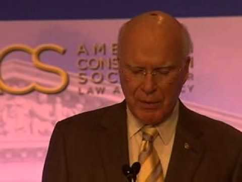 Senator Patrick Leahy Delivers Keynote Address – 2008 ACS National Convention