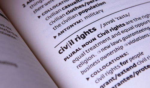 """Civil rights"" dictionary page showing definition"