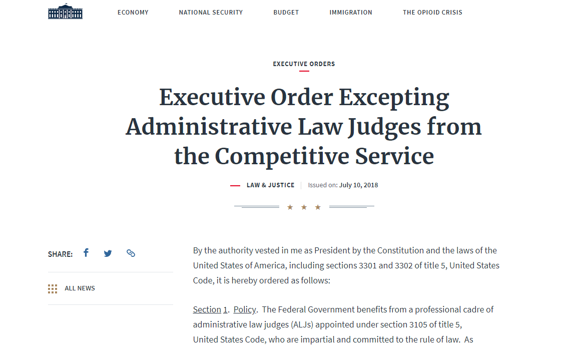 Trump's Politicization of the Administrative Judiciary | ACS