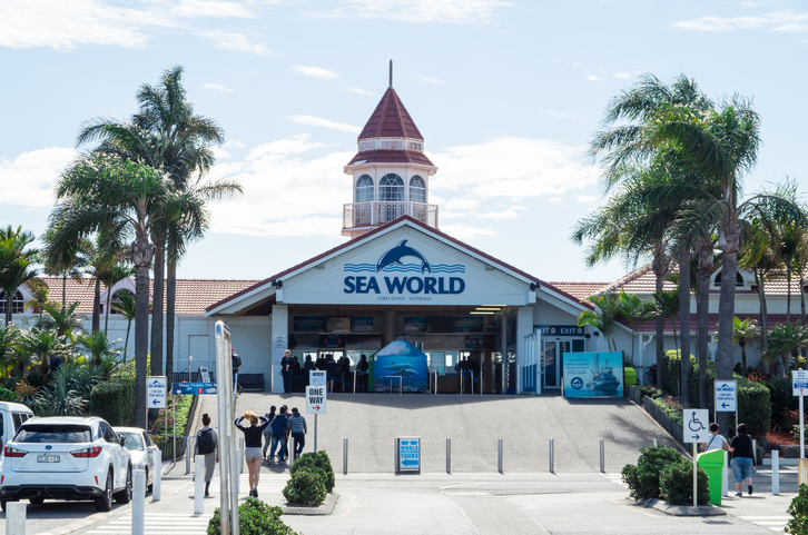 Entrance to Sea World amusement park on the Gold Coast