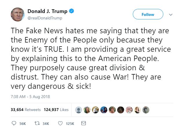 Trump media enemy of people 2