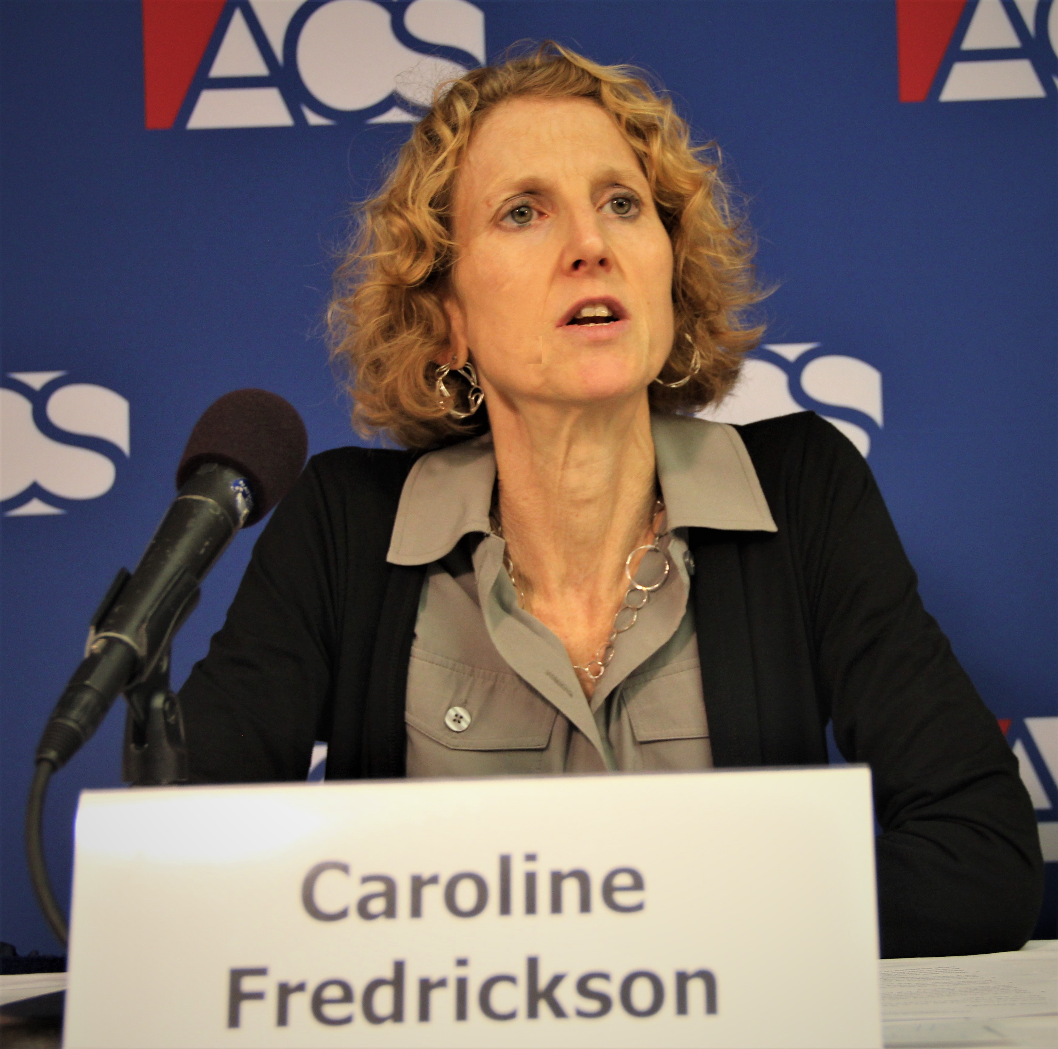Caroline Fredrickson speaks at the 2018 ACS Supreme Court Preview, September 6 2018