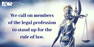 We call on members of the legal profession to stand up for the rule of law