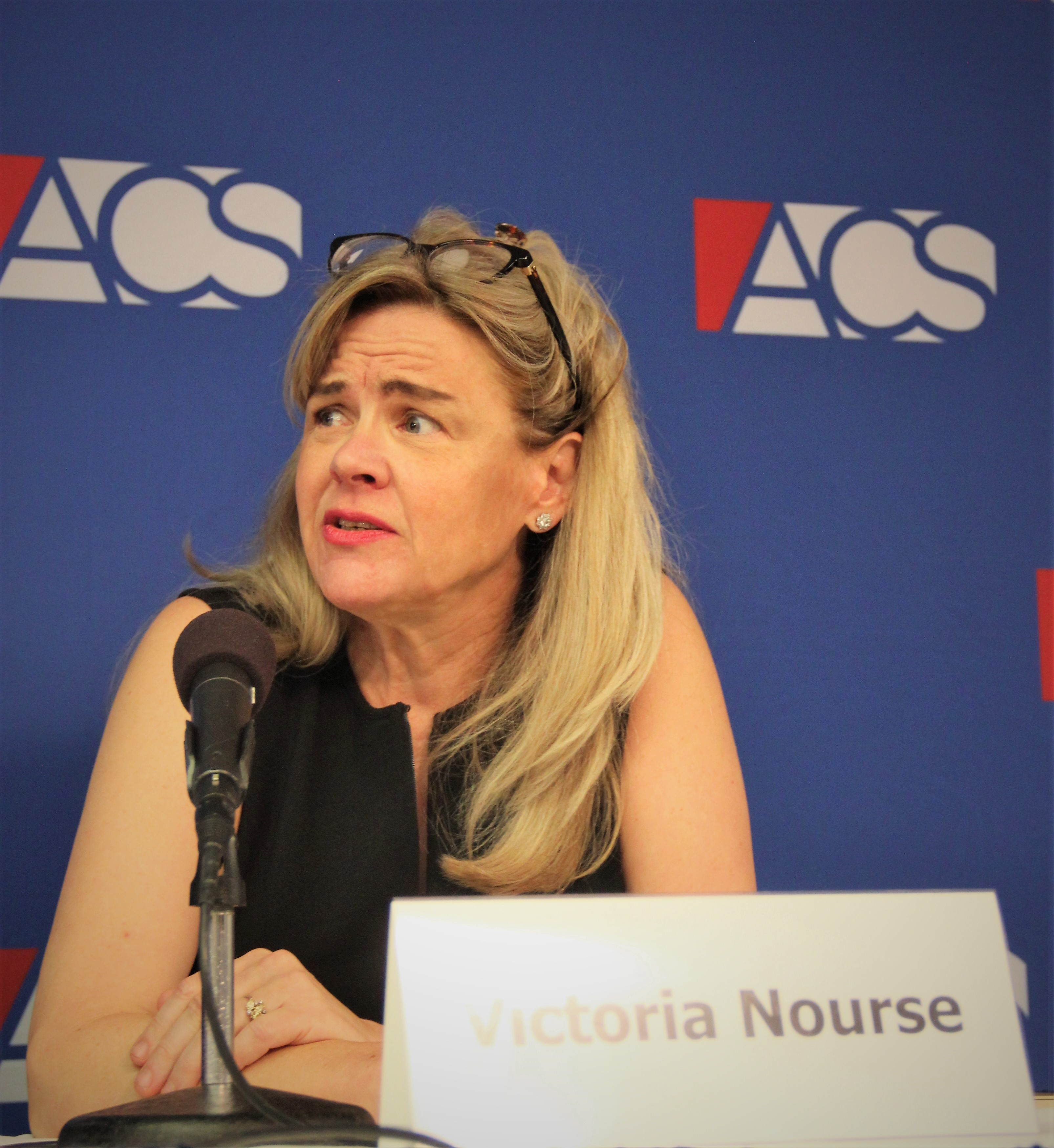 Victoria Nourse speaks at the 2018 ACS Supreme Court Preview, September 6 2018