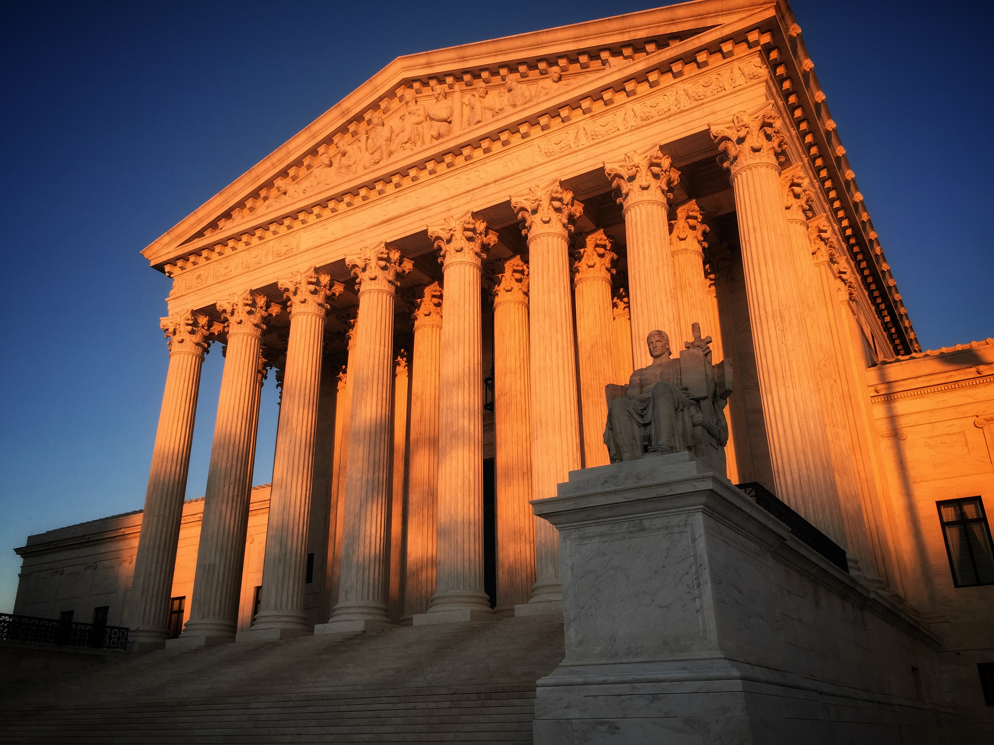 US Supreme Court Building at Sunset