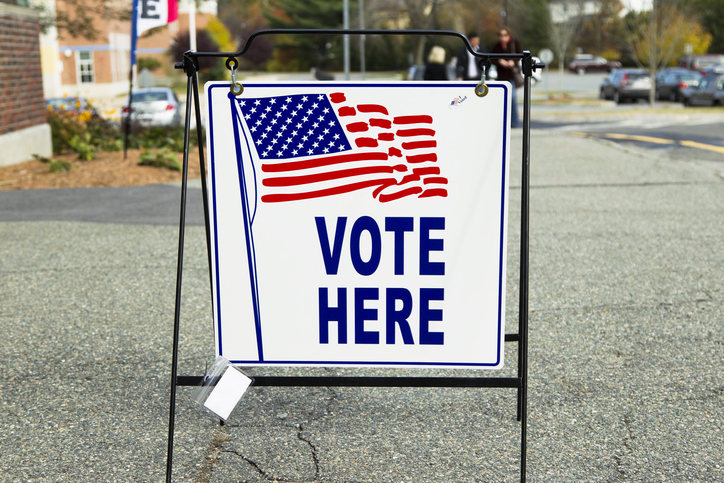 Election Polling Place Station