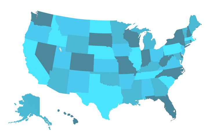 Detailed USA Map