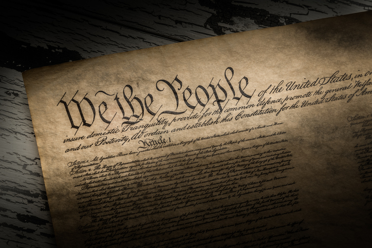 A copy of the constitution of the United States of America