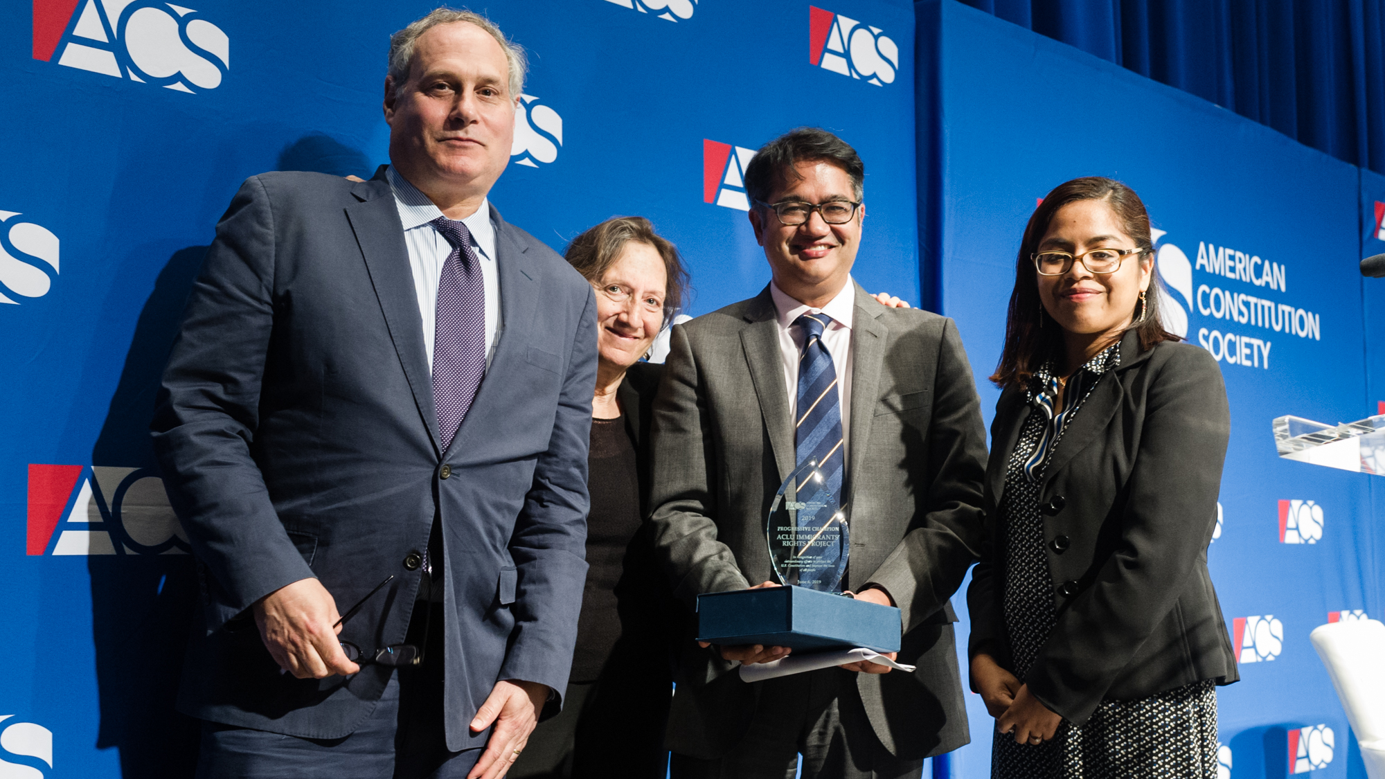ACLU's Immigrant Rights Project receives the 2019 ACS Progressive Champion Award