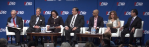 Image of panelists for After Trump panel at 2019 ACS National convention