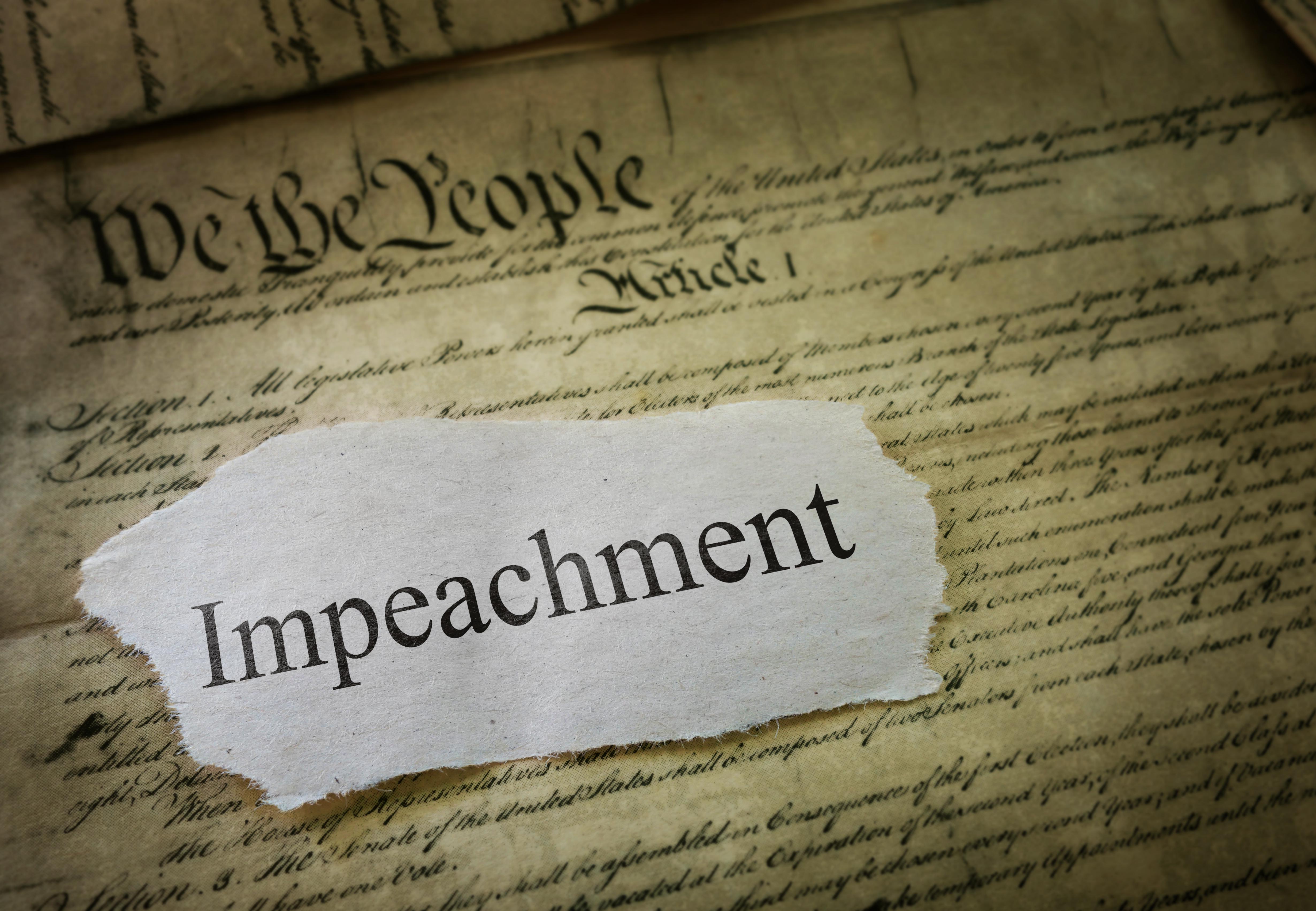 Impeachment news headline