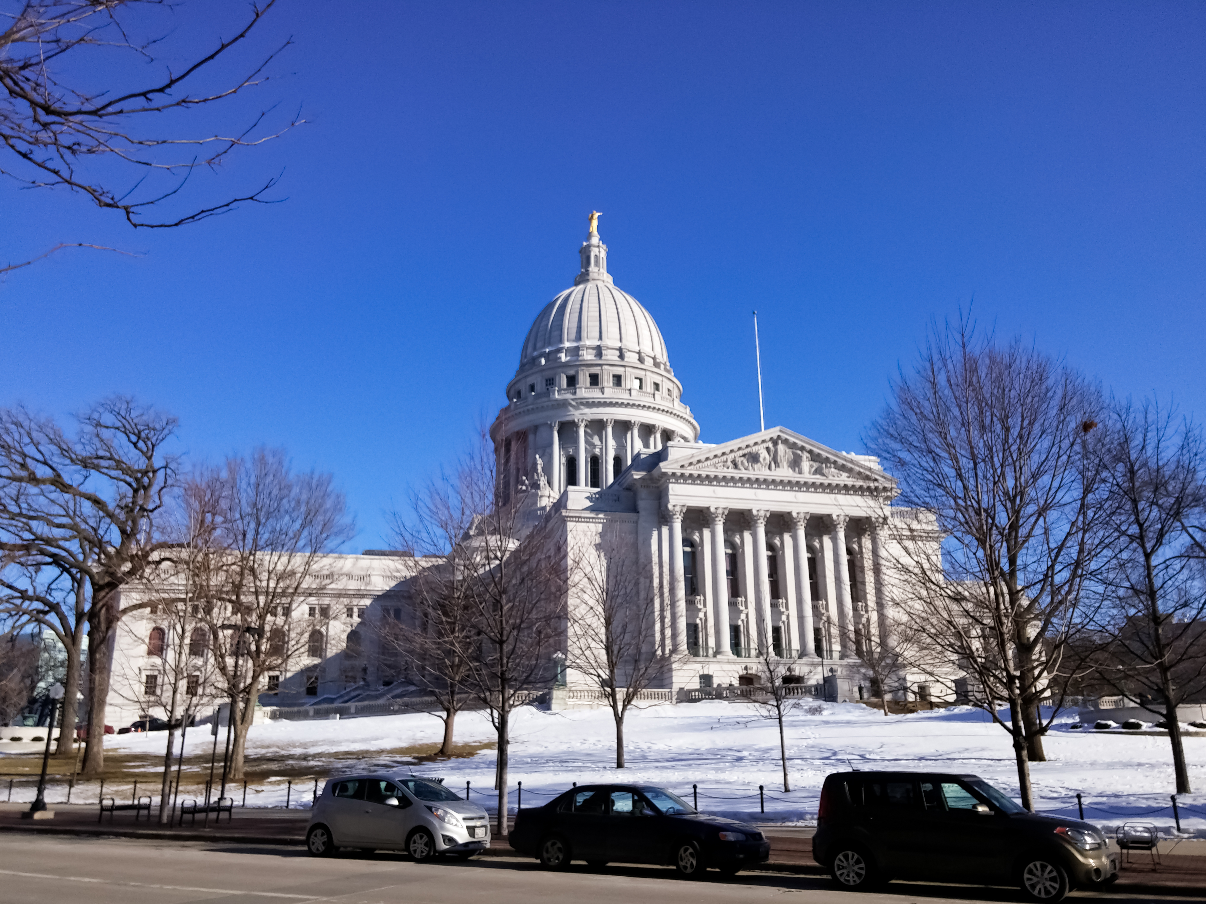 The Wisconsin State Capitol, in Madison, Wisconsin, United States
