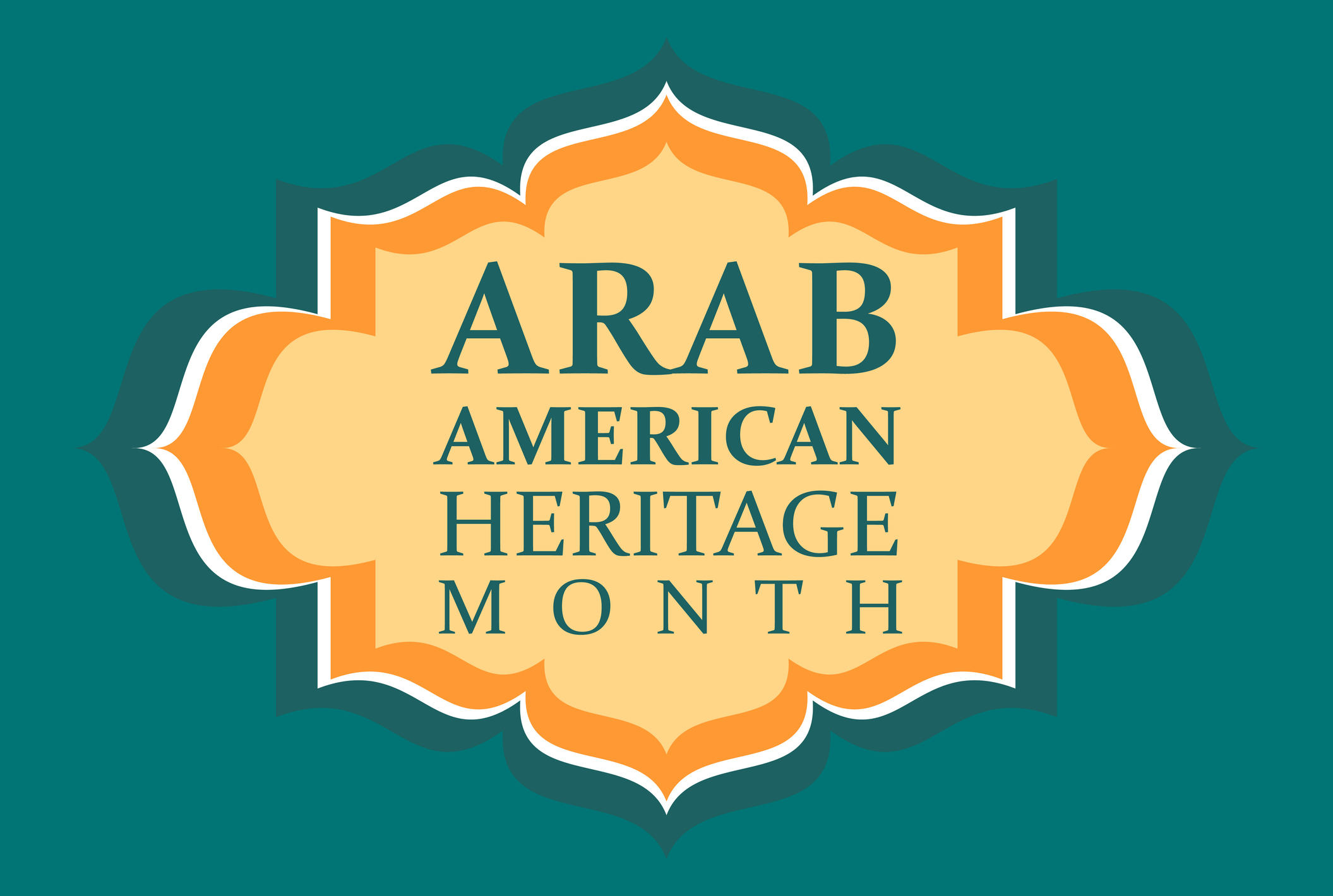 Arab American Heritage Month. Vector banner for social media, poster, greeting card. A national holiday celebrated in April in the United States by people of Arab origin.